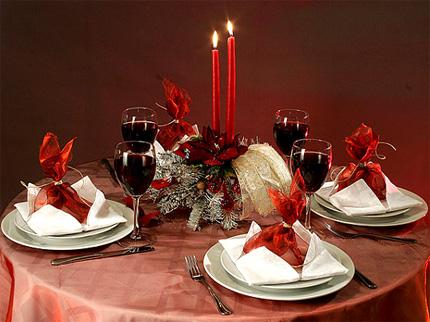 Украшение стола к новому году своими руками