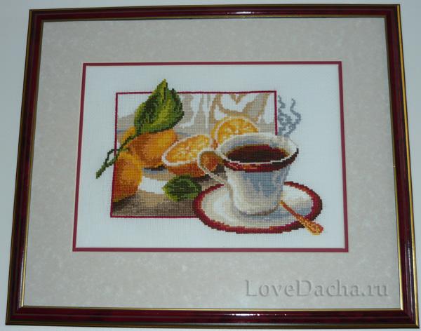 вышивка Чай и лимоны