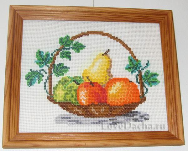 Схемы вышивки корзина фруктов