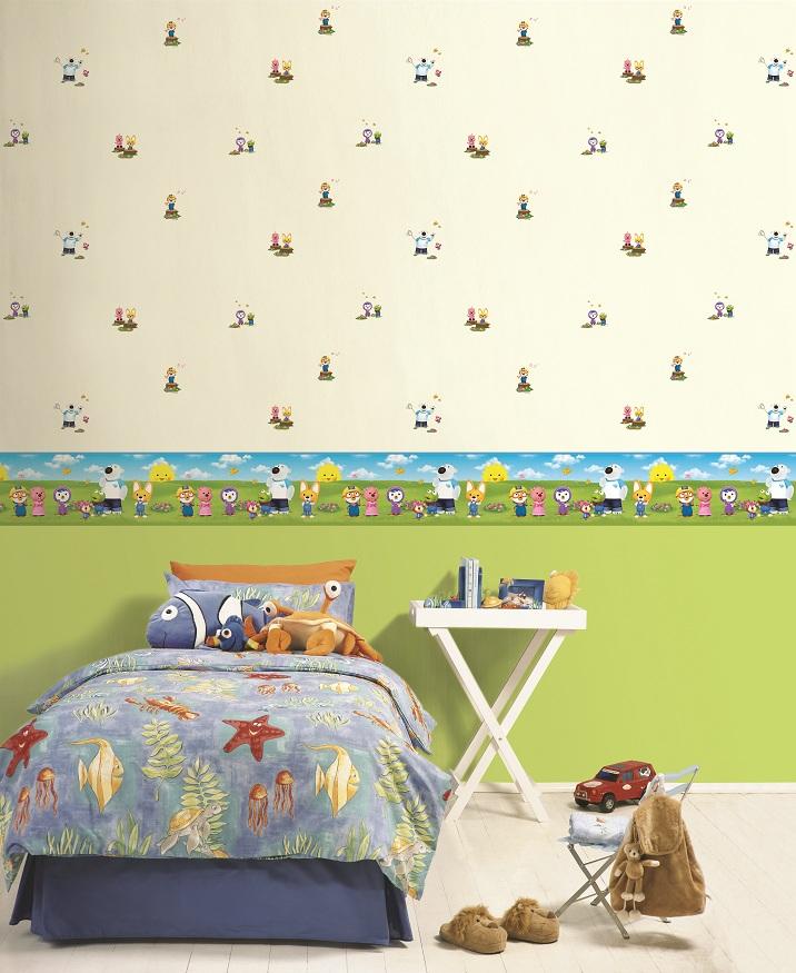 Машинки, паравозики, герои мультфильмов на стенах детской вашего ребенка!