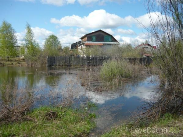 Подтопление дач Окой: вода на дачном участке