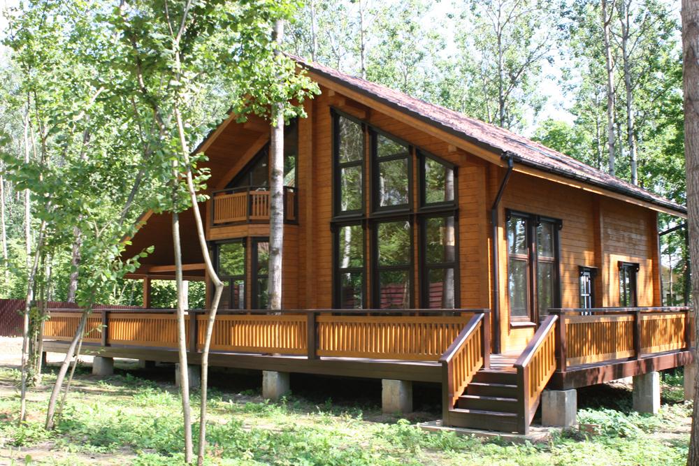 Дома из клееного бруса дизайн